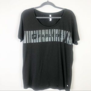 Fablectics Black and Silver Graphic Tee Size L